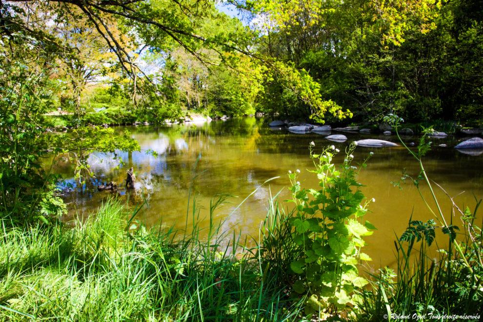 Paysage de la Vallée de Poupet, la rivière
